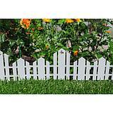 Ограждение декоративное, 25 × 170 см, 5 секций, пластик, белое, «Чудный сад», фото 8