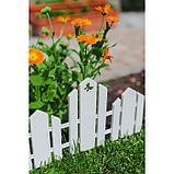 Ограждение декоративное, 25 × 170 см, 5 секций, пластик, белое, «Чудный сад», фото 9