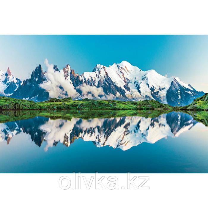 Фотобаннер, 300 × 200 см, с фотопечатью, люверсы шаг 1 м, «Отражение гор»