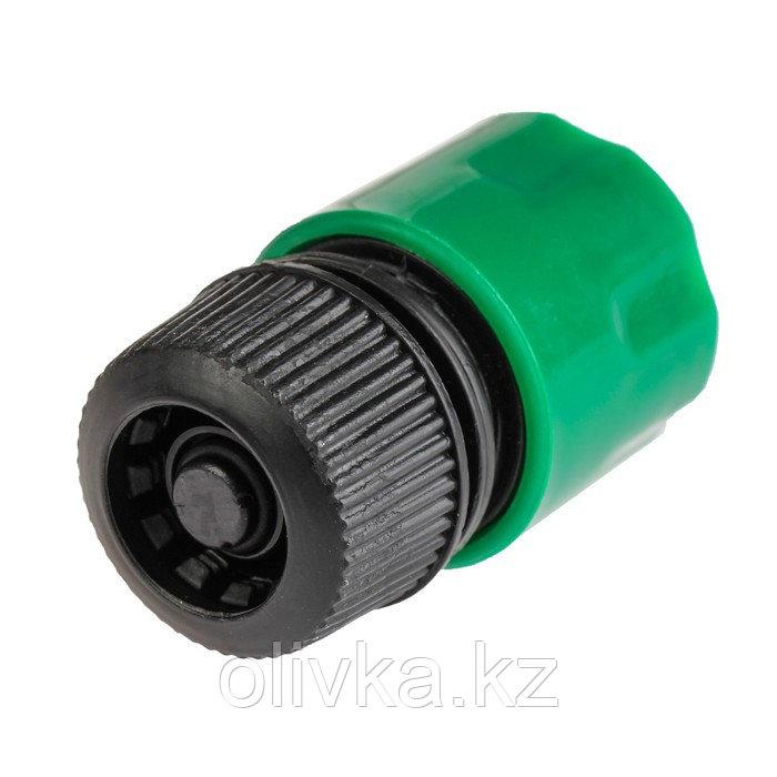 "Коннектор с аквастопом, 1/2"" (12 мм), рр-пластик"