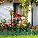 Ограждение декоративное, 25 × 170 см, 5 секций, пластик, зелёное, «Чудный сад», фото 6