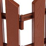 Ограждение декоративное, 25 × 170 см, 5 секций, пластик, терракотовое, «Чудный сад», фото 5