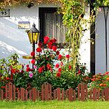 Ограждение декоративное, 25 × 170 см, 5 секций, пластик, терракотовое, «Чудный сад», фото 6