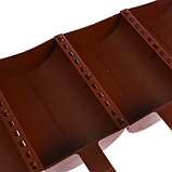 Ограждение декоративное, 24 × 100 см, 10 секций, пластик, коричневое, «Брёвнышко», фото 6