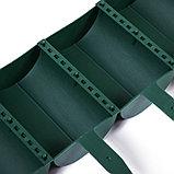 Ограждение декоративное, 24 × 100 см, 10 секций, пластик, зелёное, «Брёвнышко», фото 4
