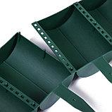 Ограждение декоративное, 24 × 100 см, 10 секций, пластик, зелёное, «Брёвнышко», фото 5