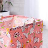 Корзинка для игрушек «Мишки» 32×32×32 см, фото 2