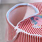 Корзина с замочком «Мои любимые игрушки» 43х42 см, фото 4
