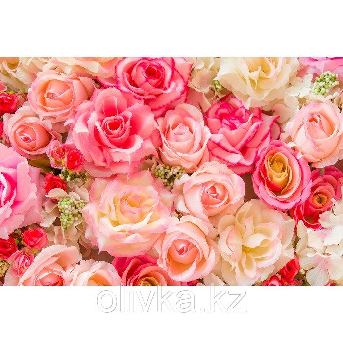 Фотобаннер, 300 × 200 см, с фотопечатью, люверсы шаг 1 м, «Розы»