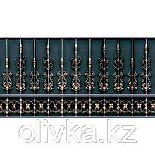 Фотобаннер, 300 × 200 см, с фотопечатью, люверсы шаг 1 м, «Золотой забор»