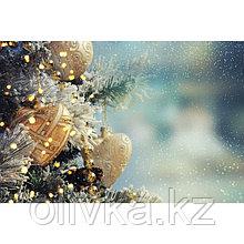 Фотобаннер, 300 × 200 см, с фотопечатью, люверсы шаг 1 м, «Новогодние игрушки»