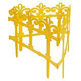 Ограждение декоративное, 33 × 267 см, 7 секций, пластик, жёлтое, «Роскошный сад», фото 4