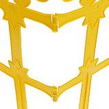 Ограждение декоративное, 33 × 267 см, 7 секций, пластик, жёлтое, «Роскошный сад», фото 5
