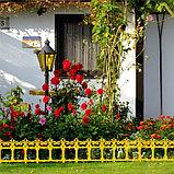Ограждение декоративное, 33 × 267 см, 7 секций, пластик, жёлтое, «Роскошный сад», фото 6