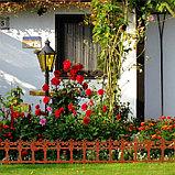 Ограждение декоративное, 33 × 267 см, 7 секций, пластик, терракотовое, «Роскошный сад», фото 6
