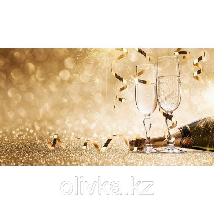 Фотобаннер, 300 × 200 см, с фотопечатью, люверсы шаг 1 м, «Брызги шампанского»