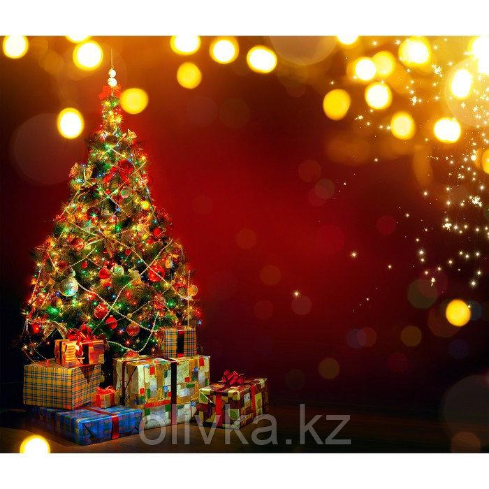 Фотобаннер, 300 × 200 см, с фотопечатью, люверсы шаг 1 м, «Подарки под ёлкой»