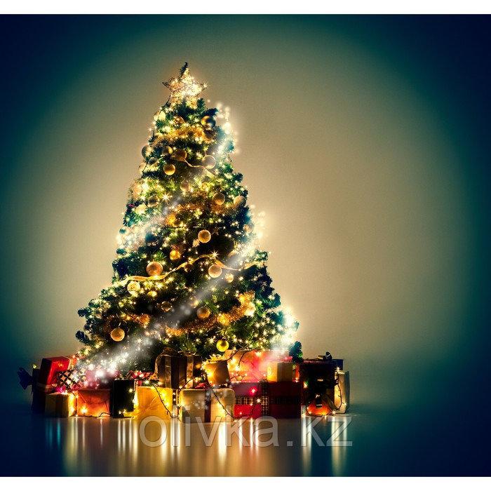 Фотобаннер, 300 × 200 см, с фотопечатью, люверсы шаг 1 м, «Волшебная ёлка с подарками»