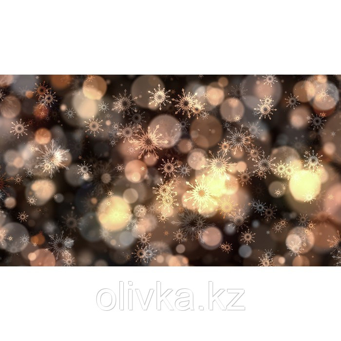 Фотобаннер, 300 × 200 см, с фотопечатью, люверсы шаг 1 м, «Снежинки и мерцание»