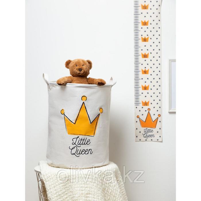 """Корзинка текстильная Этель """"Little queen"""" 34х43 см, водонепроницаемая"""
