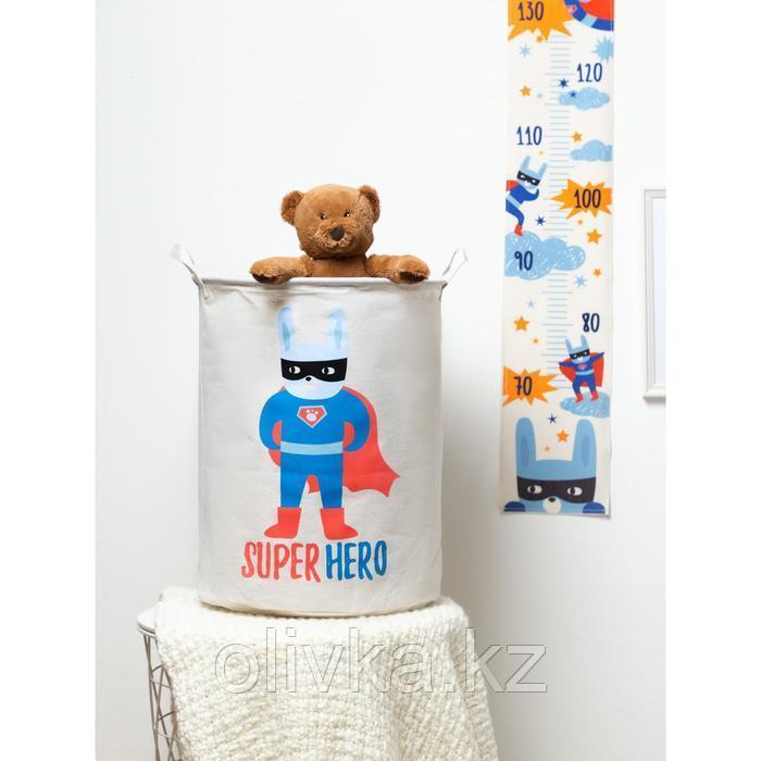 """Корзинка текстильная Этель """"Super hero"""" 34х43 см, водонепроницаемая"""