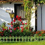 Ограждение декоративное, 33 × 267 см, 7 секций, пластик, салатовое, «Роскошный сад», фото 6