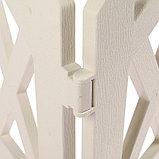 Декоративное ограждение для дачи и сада, 35 × 232 см, 4 секции, пластик, белое, MODERN, Greengo, фото 5