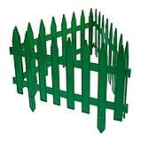 Ограждение декоративное, 35 × 210 см, 5 секций, пластик, зелёное, GOTIKA, Greengo, фото 3