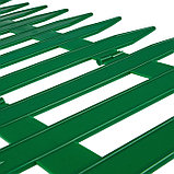 Ограждение декоративное, 35 × 210 см, 5 секций, пластик, зелёное, GOTIKA, Greengo, фото 4