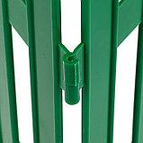 Ограждение декоративное, 35 × 210 см, 5 секций, пластик, зелёное, GOTIKA, Greengo, фото 5