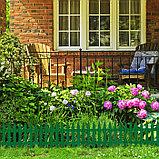 Ограждение декоративное, 35 × 210 см, 5 секций, пластик, зелёное, GOTIKA, Greengo, фото 6