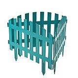 Ограждение декоративное, 35 × 210 см, 5 секций, пластик, бирюзовое, RENESSANS, Greengo, фото 3