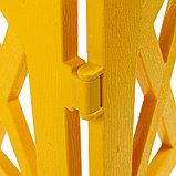Ограждение декоративное, 35 × 232 см, 4 секции, пластик, жёлтое, MODERN, Greengo, фото 5