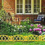 Ограждение декоративное, 35 × 232 см, 4 секции, пластик, жёлтое, MODERN, Greengo, фото 6