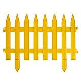 Декоративный забор для сада и огорода, 35 × 210 см, 5 секций, пластик, жёлтый, GOTIKA, Greengo, фото 2