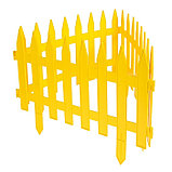 Декоративный забор для сада и огорода, 35 × 210 см, 5 секций, пластик, жёлтый, GOTIKA, Greengo, фото 3