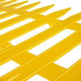Декоративный забор для сада и огорода, 35 × 210 см, 5 секций, пластик, жёлтый, GOTIKA, Greengo, фото 4