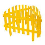Ограждение декоративное, 35 × 210 см, 5 секций, пластик, жёлтое, RENESSANS, Greengo, фото 3