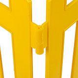 Ограждение декоративное, 35 × 210 см, 5 секций, пластик, жёлтое, RENESSANS, Greengo, фото 5