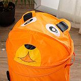 Корзина для игрушек малая «Собачка» с ручками и крышкой, фото 2
