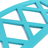 Ограждение декоративное, 35 × 232 см, 4 секции, пластик, бирюзовое, MODERN, Greengo, фото 3