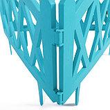 Ограждение декоративное, 35 × 232 см, 4 секции, пластик, бирюзовое, MODERN, Greengo, фото 6