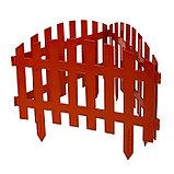Ограждение декоративное, 35 × 210 см, 5 секций, пластик, терракотовое, RENESSANS, Greengo, фото 3