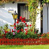 Ограждение декоративное, 35 × 210 см, 5 секций, пластик, терракотовое, RENESSANS, Greengo, фото 6