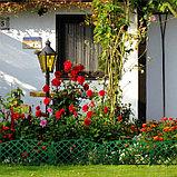 Ограждение декоративное, 35 × 220 см, 5 секций, пластик, зелёное, ROMANIKA, Greengo, фото 3