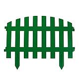 Декоративный забор для сада и огорода, 35 × 210 см, 5 секций, пластик, зелёный, RENESSANS, Greengo, фото 2