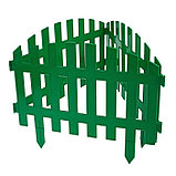 Декоративный забор для сада и огорода, 35 × 210 см, 5 секций, пластик, зелёный, RENESSANS, Greengo, фото 3