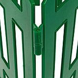Декоративный забор для сада и огорода, 35 × 210 см, 5 секций, пластик, зелёный, RENESSANS, Greengo, фото 5