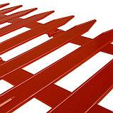 Ограждение декоративное, 35 × 210 см, 5 секций, пластик, терракотовое, GOTIKA, Greengo, фото 4