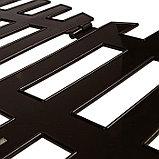 Ограждение декоративное, 35 × 210 см, 5 секций, пластик, коричневое, RENESSANS, Greengo, фото 4